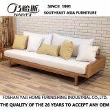 Sofá moderno moderno de tecido de madeira sólida para móveis de casa (D15)