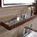 棚および側面のキャビネットとの旧式なステンレス鋼の浴室の虚栄心