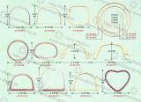 Maniglia di bambù dell'anello della maniglia delle lane della maniglia di alta qualità