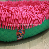 Kussen van het Huis van het Bed van de Kat Petdog van de Doek van de Zwabber van de kleur het Ovale