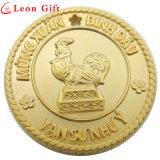 Выбитые таможней монетки сувенира металла золота Antique логоса