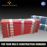 El apuntalamiento del andamio para proyectos de construcción