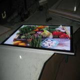 주문 아크릴 광고 LED Frameless 호리호리한 가벼운 상자