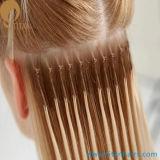A corda do algodão Nó-Baseou a extensão indiana do cabelo de Remy da queratina