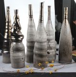 Tall forma columnar Artware cerámica para decoración del hotel