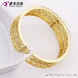 Bangle ювелирных изделий 51407 способов шикарным широким покрынный золотом с Zircon