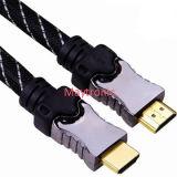 Cavo 1.4 di HDMI placcato oro con la treccia di nylon