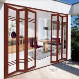 Portes prêtes à l'emploi coulissantes en verre en aluminium bon marché d'accordéon pour la Chambre