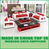 Jeu moderne de sofa de divan de cuir de meubles