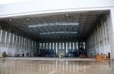 Hangar de aço dos aviões do painel