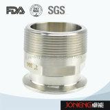 Edelstahl-Nahrungsmittelgrad-festgeklemmter männlicher Adapter (JN-FL6002)