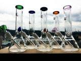 Venta al por mayor 10 pulgadas del cubilete que fuma del tazón de fuente colorido bajo del percolador de tubo de agua de cristal