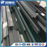 Perfil de aluminio con superficie de recubrimiento en polvo para ventanas y puertas