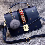 2017 Bolsas de ombro de estilo New Fashion Ladies Handbag com acessórios de bola de pele Sy8057