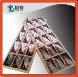 Escrituras de la etiqueta autas-adhesivo metálicas para los perfumes de gama alta