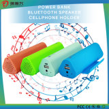Mini banco da potência do altofalante do Portable 6600mAh Bluetooth com suporte do telefone
