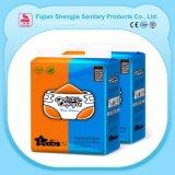 Venta caliente transpirable Pañales desechables impresos con cinta de la Magia de bajo precio