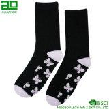 La mejor calidad hizo punto los calcetines de moda del algodón