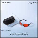 Se divierte el tipo de anteojos de seguridad de las gafas de seguridad de laser/laser para los lasers verdes 532nm (GHP-2 200-540nm) con Frame55