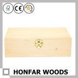 Rectángulo de empaquetado moderno del rectángulo de regalo de madera de pino para el regalo promocional