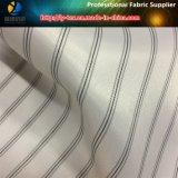 スーツまたは衣服のポリエステル縞ファブリック(S84.92)のための白い袖のライニング