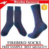 100% der Männer kämmten Baumwollkleid-Socken