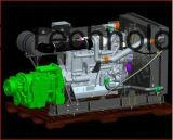 محرك الديزل + نقل الطاقة حزمة الجمعية لمضخة الطين / غير المعدات المنقولة الطريق / آلات البناء
