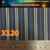 Tela de la materia de efectivo de la raya del poliester para la guarnición de la chaqueta (X118-120)