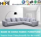 Sofá europeo de la tela de la sala de estar del diseño moderno (HC561)