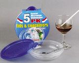 la plastica rotonda 9.5oz toglie il contenitore di alimento di Microwavable