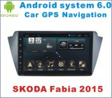 Android System 6.0 Player de DVD de carro para Skoda Fabia 2015 com navegação de carro