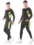 Komprimierung-Eignung-Gymnastik-Sportkleidung des kundenspezifischen Farben-Form-Mannes im Freien