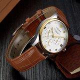 374人のための古典的なカレンダの水晶腕時計の贅沢な腕時計