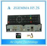 Mejores hardwares y softwares Zgemma H5.2s de doble núcleo y sistema operativo Linux E2 DVB-S2+S2 Sintonizadores dobles con H. 265/Hevc