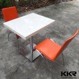 Quadratische Speisetisch-Sets/weiße Tabelle 2 Seaters