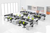 Partition en bois en verre en aluminium moderne de poste de travail/bureau de compartiment (NS-NW332)