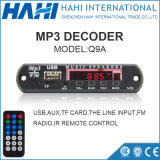 Q9a FM Rádio Kit MP3 Play Módulo Placa USB TF Card Decoder