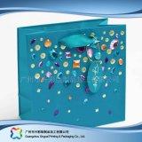 Gedruckter Papier-verpackenträger-Beutel für Einkaufen-Geschenk-Kleidung (XC-bgg-038)