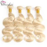 Blonde 613# Реми человеческого волоса добавочный номер Double Weft заготовки 100% нового бразильского прав волосы вьются