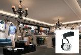 COB regulable aluminio fabricante de iluminación LED de la vía para zapatos Store