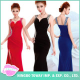 Cheap Online Fitted Beading sans manches sirène Ball Formal Red Prom Party Robes pour les femmes
