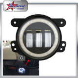 Super Bright High Power 4 Inch 30W Car LED Fog Light com DRL Daytime Running Light para Jeep Car Truck 4X4 Offroad Motocicleta