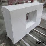 Parte superiore bianca Polished di vanità della pietra del quarzo di Kingkonree Cina Carrara (C171130)