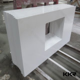 Kingkonree中国磨かれたカラーラの白い水晶石の虚栄心の上(C171130)