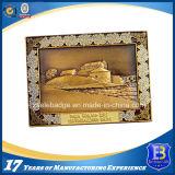 medaglione antico della moneta del ricordo dell'oro 3D