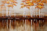 Peinture à l'huile abstraite de reproduction pour l'arbre (ZH3239)