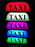 담배 점화기 소켓을%s 가진 택시 차 지붕 도랑 빛 램프