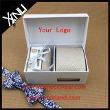 Insiemi del legame del regalo tessuti jacquard della seta di 100% per gli uomini