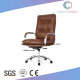 Stoel van uitstekende kwaliteit van het Bureau van de Manager van de Basis van het Metaal van het Leer de Algemene Comfortabele