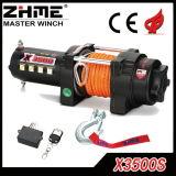 3500lbs treuil électrique rapide de la vitesse ATV/UTV avec la corde synthétique